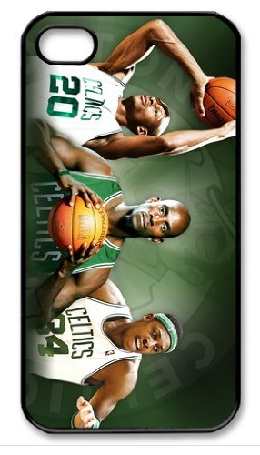 Boston Celtics Logo NBA HD image case cover for iphone 4/4S black A Nice Present at Amazon.com
