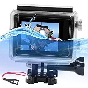 First2savvv GO-LED-A01 LCD BacPac External Monitor Display Viewer Non-Touch Screen for Gopro Hero 4 3 with Waterproof Cover Protective Full Case Buoyancy Handheld Stick 1 X LCD BacPac + Spanner Wrench