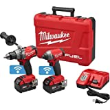 Milwaukee 2795-22 Fuel 18-Volt Lithium-Ion Brushless Cordless Hammer Drill/Impact Driver Combo Kit (Color: black)
