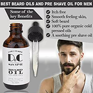 d c beard oil and shave oil conditioner for men huge 2oz bottle unscented beard. Black Bedroom Furniture Sets. Home Design Ideas