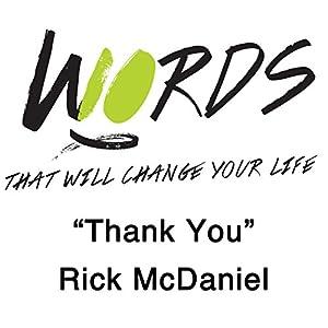 Thank You Speech
