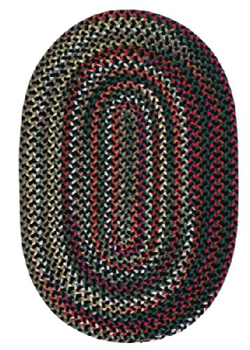 Colonial Mills Chestnut Knoll Braided Rug - Black Satin