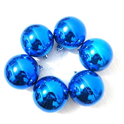PETMALL Set of 6pcs Christmas Decor 6 CM Round Christmas Balls Baubles XMAS Tree Ornament JR-020