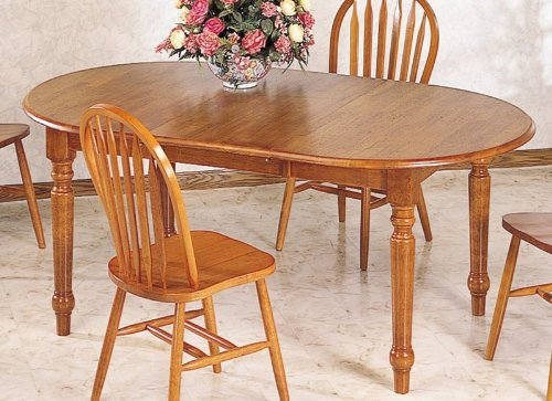 Buy Low Price Coaster Dining Table with Turned Legs Oak Finish (VF_5372)
