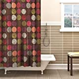 Obsessions Glam Polyester Shower Curtain - Cream and Rust Flowers (2864-5)