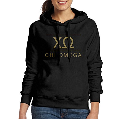 Chi Omega Black 80s Fashion Hoodie (Chi Omega Hoodie compare prices)