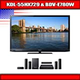 "Sony KDL-55HX729 - 55"" BRAVIA 3D LED-backlit LCD TV + Sony BDV-E780W - 5.1  ...."