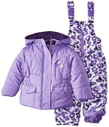 Pink Platinum Baby Girls\' Camo Snowsuit, Purple, 18 Months