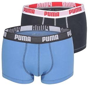 Puma Basic - Calzoncillo tipo bóxer para hombre (2 unidades) multicolor azul Talla:large