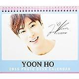 2015年 東方神起 TVXQ ユノ ユンホ 卓上カレンダー (各月2ページずつ あります)スケジュールステッカー付+ミニポストカード 230