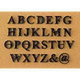 Press In Letters Stone Stamps - Uppercase Traditional Typeface