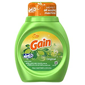 Gain With Freshlock Original Liquid Detergent, 25 Oz