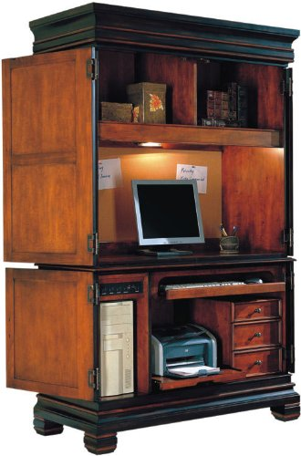 Asian style computer armoire