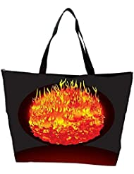 Snoogg Burning Planet Vector Waterproof Bag Made Of High Strength Nylon