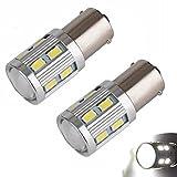 AUTOUS90 2 x 1156 1141 1003 5730 12 smd Led Light bulb Use for Back Up Reverse Lights,Brake Lights,Tail Lights,Rv lights White