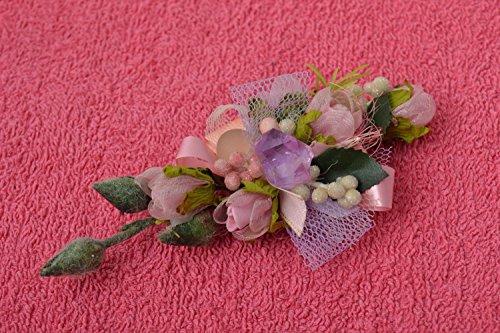 Boutonnière rose fait main Accessoire mariage Cadeau homme originale design
