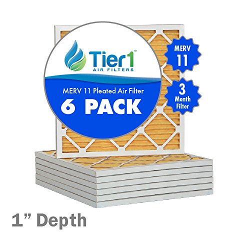 16-3/8x21-1/2x1 Ultra Allergen Merv 11 Pleated Replacement AC Furnace Air Filter (6 Pack) (16 1 2 X 21 1 2 X 1 Air Filter compare prices)
