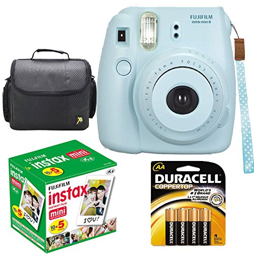 Discover Bargain Fujifilm Instax Mini 8 Instant Film Camera (Blue) With Fujifilm Instax Mini 5 Pack ...
