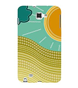 multicoloured traditional pattern 3D Hard Polycarbonate Designer Back Case Cover for Samsung Galaxy Note i9220 :: Samsung Galaxy Note 1 N7000