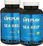 2 Bottles of Lifeplan Sea Kelp 400mg 280 Tablets (560 tablets)