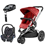 Quinny Buzz Xtra Red Rumour with Cabriofix Total Black and FamilyFix Base