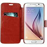 Armor Samsung Galaxy S6 Case Cover : Armor Slim Leather Wallet Book Case Flip Cover For Samsung Galaxy S6 (Brown)