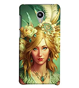 Omnam Girl Printed Back Cover Case For Meizu M2