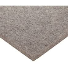 Felt Sheet, Gray, Adhesive-Backed, Grade F3, Wool Content: 85% Minimum, Meets SAE F3 Specifications, Inch