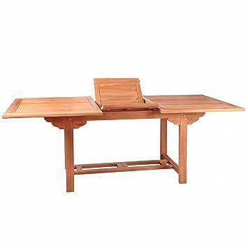 Mesa de jardín extensible de teca marrón Garden