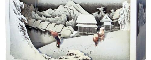 立版古 東海道五十三次 蒲原「夜の雪」