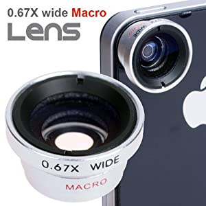 BestDealUSA Wide Angle/Macro Lens for Mobile Phone Camera Kodak Zi8