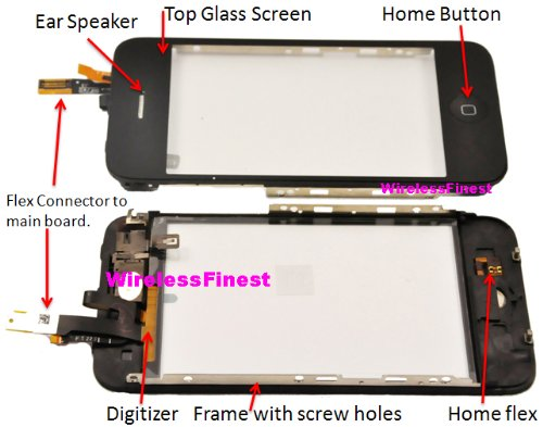 Pre-installed Kit : Apple iPhone 3G Lcd Glass