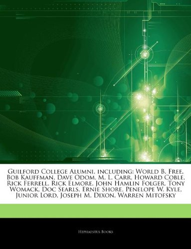Articles on Guilford College Alumni, Including: World B. Free, Bob Kauffman, Dave Odom, M. L. Carr, Howard Coble, Rick Ferrell, Rick Elmore, John Haml