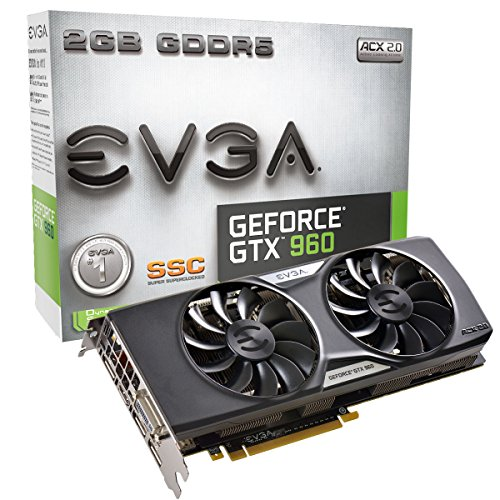 EVGA 02G-P4-2966-KR NVIDIA - Scheda video GeForce GTX 960 SuperSC ACX 2.0+ 2GB