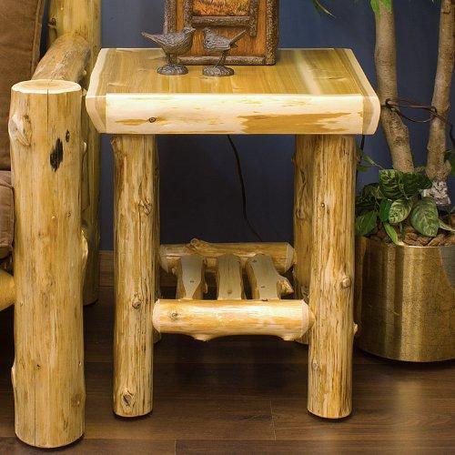 Cheap Cedar Lake Cabin Log End Table (CLCET)