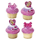 Official Crispie Sweets Cupcake Topper KIT Barbie w  Dusting Sugar Sampler   Bonus Card 24 Rings Eligible for Amazon Prime!