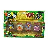 Koo Koo Birds 4 Pack (Sapsucker, Who-Zee-What, Long-Tailed KooKoo, and Doofusina)