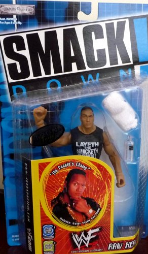 WWF Smack Down Raw Heat The Rock by Jakks Pacific 2000