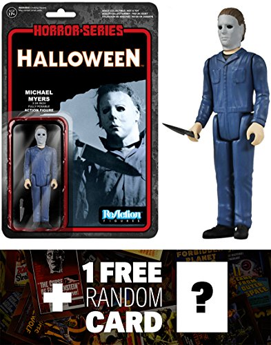 Michael Myers: Funko x Super 7 x Halloween ReAction Series + 1 FREE Classic Horror Movies Trading Card Bundle [41335]