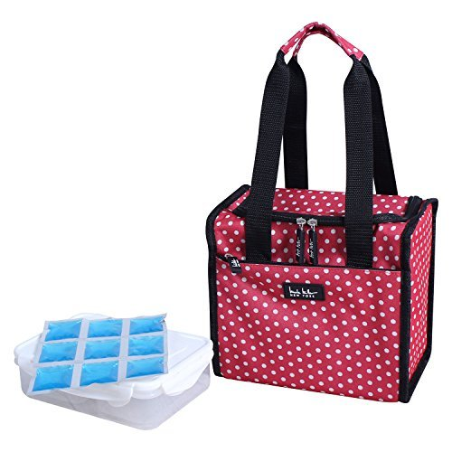 nicole-miller-of-new-york-insulated-lunch-cooler-red-polka-dot-print-lunch-tote-by-nicole-miller