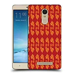 Snoogg Yellow Leaves In Red Printed Protective Phone Back Case Cover For Xiaomi Redmi Note 3