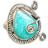 Amazonite, Amazonite Argent Sterling 925 Bague 8