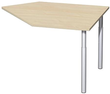 Dati coltivazione tavolo destra con stabilizzatori, incl. materiale concatenazione, regolabile in altezza, Cornice, 1060x 1225X 680-820, acero/argento, mobili