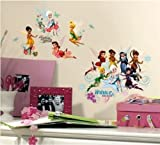 Disney Fairies Wall Stickers - Tinkerbell Secret of the Wings Decals 54 pieces with Glitter