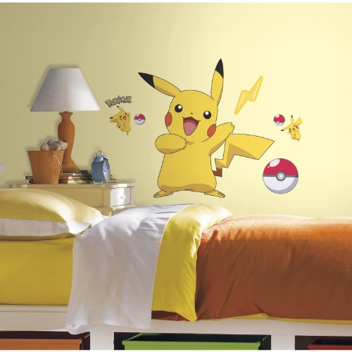 RoomMates-RMK2536GM-Pokemon-Pikachu-Peel-and-Stick-Wall-Decals