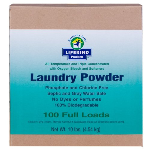 All Temperature And Triple Concentrated Natural Laundry Powder With Oxygen Bleach And Softners 10-Lb. Box (100 Full Loads) No Dyes Or Perfumes front-517052