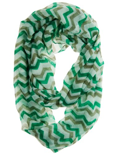 Cotton Cantina Soft Chevron Sheer Infinity Scarf