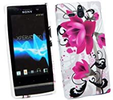 buy Kit Me Out Usa Tpu Gel Case + Screen Protector With Microfibre Cleaning Cloth For Sony Xperia U St25I - Purple Bloom