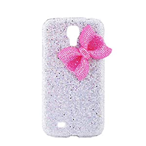 6 Colors Bling Crystal Diamond Cute Bow Skin Case Cover For Samsung Galaxy S4 (White)