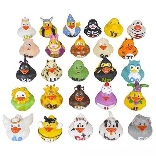 Alphabet Rubber Ducks - 26 pcs